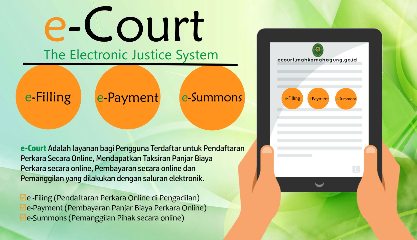 E-COURT (Electronic Justice System)